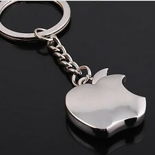 2 pcs Apple logo Metal Key Chain  Apple Keychain Key Ring