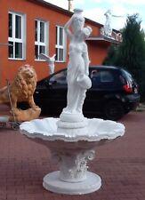 Brunnen 215 cm, Brunnenfigur, Springbrunnen, Steinguss, Gartenfigur, Gartendeko