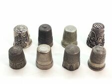 (8) Antique Thimbles Assorted Sterling Silver 925 Thimble Lot 02 32g