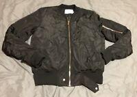 NEW Eleven Paris La Collection Nuxy Bomber Flight Jacket Black, Sz L Men's