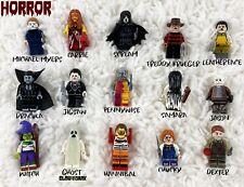 Wow 8Pc Horror Theme Jason Scream Killer Freddy krueger lego halloween toys kids