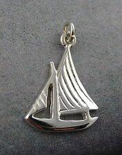 Ola Gorie Silver Sailing Boat Charm Scottish Boxed