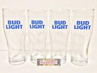 Bud Light Premium Light Lager Set Of (4) 16 oz Pint Beer Glasses - Brand New!