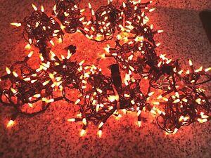 300 ORANGE Fall  HALLOWEEN String Lights ~ 6  12' Strands of 50 Bulbs Each