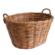 Best Quality Classic Oval Wicker Rattan Clothes Laundry Basket Storage