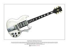 Keith Richards de 1964 Gibson SG Custom Limited Edition Fine Art Print A3 Tamaño