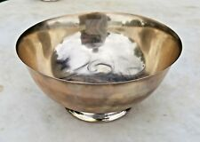 ESTATE REED & BARTON PAUL REVERE REPRO X406 STERLING SILVER FOOTED BOWL-6.5""