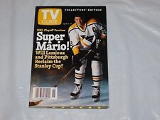 RARE-COLLECTIBLE-LTD ED~TV GUIDE-PENGUINS-SUPER MARIO LEMIEUX-HOCKEY/STANLEY CUP