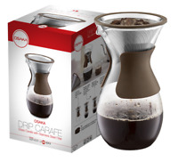 Pour Over Coffee Maker - Borosilicate Glass Carafe w/ Stainless Steel Filter, 1L