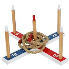 Outdoor Home Party Game Set - Cross Type Ring Toss Game - Friends Family Gaming