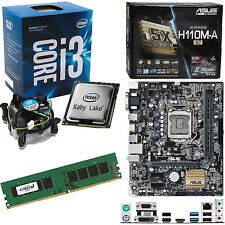INTEL Core i3 7100 3.9Ghz, ASUS H110M-A/M.2 & 4GB 2133Mhz DDR4 RAM