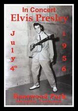 """Framed Vintage Style Rock 'n' Roll Poster """"ELVIS PRESLEY in CONCERT 1965""""; 12x18"""