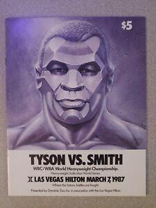 "MIKE TYSON vs JAMES ""BONECRUSHER"" SMITH ORIGINAL OFFICIAL PROGRAM (1987)"