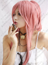 133 Vocaloid Luka Ruka Clip Ponytail Pink Cosplay Wig Poker Face
