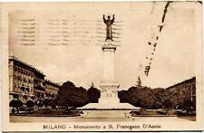 1931 Milano - Monumento a S. Francesco D'Assisi Annullo Ferrovia -  FP B/N VG