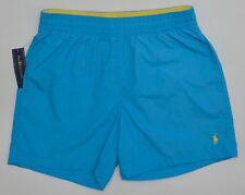Men's POLO RALPH LAUREN Teal Blue Swimsuit Trunks Large L NWT NEW Nice!