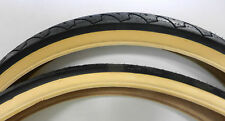 New pair 26 x 1.95 Duro bicycle tires 54-559 Gum Wall 60 psi tubes rim strips