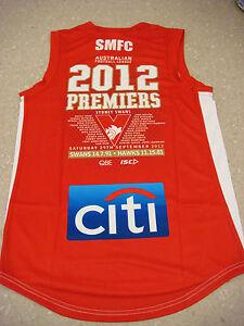 Sydney Swans 2012 Premiers Limited Edition MEDIUM AFL Jumper BRAND NEW GOODES