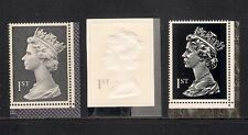 GB 1999 sg2077 2078 2079 Large Machins Recess/Emboss/Typo booklet stamp set MNH