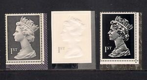 GB 1999 sg2077 2078 2079 Large Machins Recess/Emboss/Typo booklet stamp set MNH