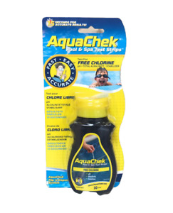 Aqua Chek Test Strip CHLORINE (50 Strips INCLUDED) Hottub - Spa - Jacuzzi -Pool
