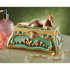 Nostalgic Art Nouveau Style Vogue Glamour Princess Cameo Trinket Jewelry Box