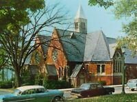Sage Chapel Cornell University NY Posted Classic Cars Chrome Vintage Postcard