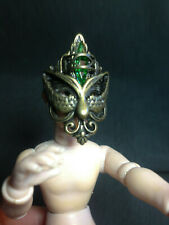 DOLLHOUSE MINIATURE accessories jeweled mask mardi gras new year halloween1:12