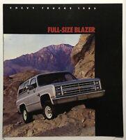 1985 Chevy Full-Size BLAZER Dealership Sales Brochure