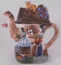 Popular 2001 Tea Shop Candle Holder Teapot House & Tile EUC
