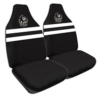 AFL Front Car Seat Covers - Collingwood Magpies  - Set Of 2 One Size Fits All