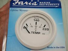 """TEMP GAUGE CYLINDER HEAD OUTBOARD UNIVERSAL 60-220F WITH SENDER 2"""" 678-13113"""