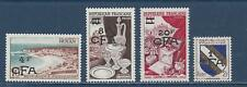 """REUNION - 301 - 304 - MH - 1954 - """"CFA"""" + NEW VALUE ON FRANCE STAMPS"""