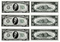 Lot of (5) CONSECUTIVE FR 1934 A $10 Federal Reserve Note FRN'S BOSTON, MA