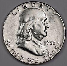 1953 Franklin Half Dollar.   A.U.  114702