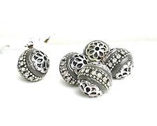 entre perle À faire soi-même Bijoux - Ø 4 mm-argent Sadingo Acier inoxydable Perles 100 pcs