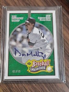 2005 UD Heroes DON MATTINGLY auto on card 41/99