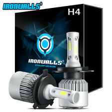 HB2 9003 H4 Ironwalls 1080W Power White LED Headlight Kit Bulbs High Low 6000K