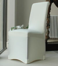 Lycra Spandex Chair Covers for Arched Flat Party Wedding Decoration Ivory Flat Fronted 6 Coaf0003