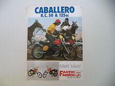 advertising Pubblicità 1975 MOTO FANTIC CABALLERO RC 125 e RC 50