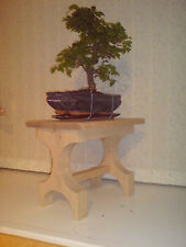 HANDMADE SOLID OAK SIDE / LAMP / BONSAI DISPLAY TABLE