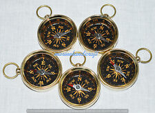 Brass Compass Keychain Compass Key Chain Marine Nautical KeyRing A Lot of 100