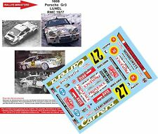 DECALS 1/43 REF 1008 PORSCHE 911 LUNEL RALLYE MONTE CARLO 1977 RALLY WRC