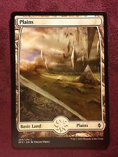 Battle for Zendikar Full Art Land  Plains #253  VO  -  MTG Magic (Mint/NM)