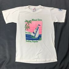 Vtg Mount Dora Yacht Club Shirt Sz Small White Multicolor Short Sleeve Tee