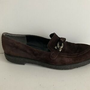 Stuart Weitzman For Russell & Bromley Brown Loafers with Chain Size  UK6/EU39