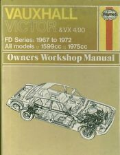 VAUXHALL VICTOR FD & VX 4/90 1.6 2.0 1967 - 1972 OWNERS WORKSHOP MANUAL HARDBACK