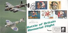Battle of Britain Memorial Full set 5 Christmas FDC Signed  R Blagdon  617 Sqn