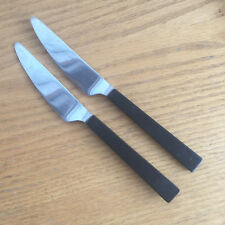 """Fiskars Finland FIK 1 Stainless  Wood Handles  2 Knives  w/ Square Tip  7 5/8"""""""