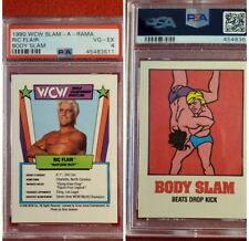 1990 WCW Slam-A-Rama Ric Flair Nature Boy Wrestling Game Card PSA 4